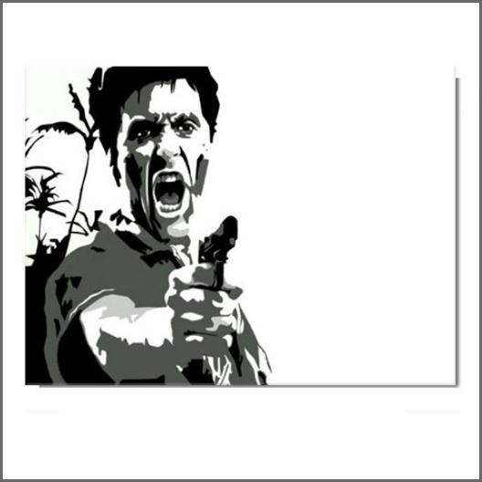 Scarface schilderij - Tony Montana Shooting