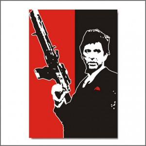 Scarface schilderij - Tony Montana with gun